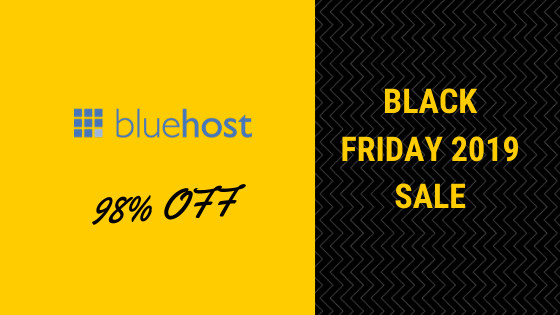 Bluehost Black Friday 2019